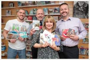 The Great British Card Company, Waterwells Drive, Gloucester, Gloucestershire, GL2 2PH. Job details: The Great British Card Company has reached the ?1million mark with its charity Christmas cards. 22.12.14. L-R; Liam Riley, Chris Wilcox, Jan Tredgett and Michael Mcgunnigle. Picture by Emma Stoner - Thousand Word Media, NO SALES, NO SYNDICATION. Contact for more information mob: 07775556610 web: www.thousandwordmedia.com email: antony@thousandwordmedia.com The photographic copyright ((C) 2014) is exclusively retained by the works creator at all times and sales, syndication or offering the work for future publication to a third party without the photographer's knowledge or agreement is in breach of the Copyright Designs and Patents Act 1988, (Part 1, Section 4, 2b). Please contact the photographer should you have any questions with regard to the use of the attached work and any rights.